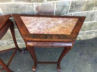Pair of Oriental Chinese Marble Top Console Tables (6 of 12)
