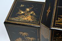 Art Deco Lacquered Chinoiserie Drinks Cabinet / Sideboard (9 of 16)