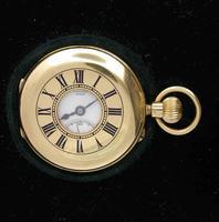 18Kt Yellow Gold Clerke Half Hunter Pocket Watch  Hallmarked for London 1909