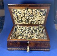 William IV Flame Mahogany Jewellery Box (8 of 20)