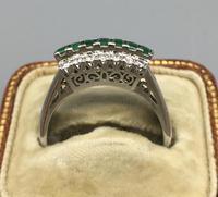 Platinum Set Emeralds & Diamonds Ring (7 of 11)