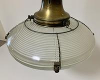 Original Holophane Flying Saucer Glass Pendant Light (4 of 11)