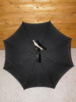 Antique Mother of Pearl Black Canopy Parasol -18 Carat GP W/Vacant Cartouche (4 of 15)