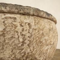 Large 18th Century Swedish Carved Wooden Burl Root - Knot Bowl (5 of 14)