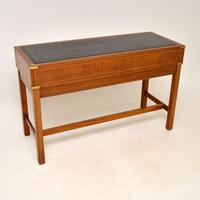 Antique Military Campaign Style Mahogany Writing Table / Desk (12 of 12)