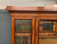Fine Quality Figured Mahogany Library Bookcase (6 of 17)