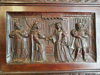 A 19thc Mahogany Carved Relief Panel Depicting Tudor Interior Scene (5 of 7)