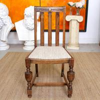 Oak Gateleg Dining Table & 4 Chairs Arts Crafts (7 of 17)