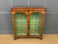 Good Burr Walnut Glazed 2 Door Bookcase (2 of 15)