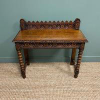 Stunning Carved Oak Victorian Antique Hall Table (5 of 8)