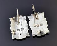 Victorian Silver Demi Parure, Earrings & Brooch (8 of 14)