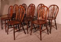 Set of 10 Windsor Wheelback Chairs 19th Century -  England (4 of 11)