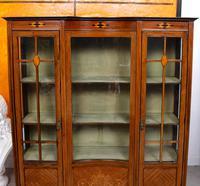 Edwardian Glazed Bookcase Inlaid Mahogany (3 of 9)
