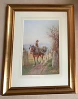 Edwin Bottomley Watercolour 'returning home at the end of the day' (2 of 2)