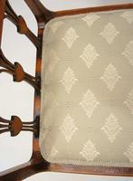 Elegant Edwardian Inlaid Mahogany  Piano Stool, Dressing  Stool, Re-upholstered (19 of 20)