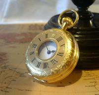 Vintage Pocket Watch 1970s Swiss County 17 Jewel 12ct Gold Plated FWO (3 of 12)