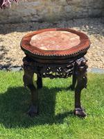 Chinese Hongmu Jardinière or Side Table with Marble Inset, Antique (16 of 16)