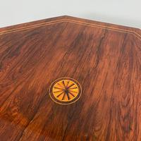 Striking Figured Rosewood Victorian Inlaid Antique Occasional Table (4 of 7)