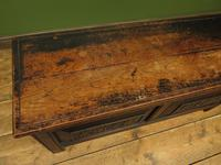 Antique Continental Carved Oak Coffer, Blanket Box, Hall Storage Chest for shoes (3 of 17)