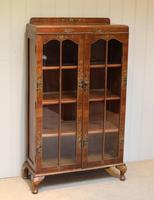 Walnut Chinoiserie Decorated Bookcase (6 of 10)