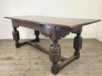 Antique Carved Oak Refectory Dining Table (11 of 15)
