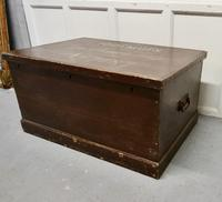 Victorian Painted Masonic Pine Chest (3 of 7)