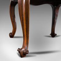 Antique Dressing Stool, English, Walnut, Upholstery, Boudoir Seat, Regency c.1820 (11 of 12)