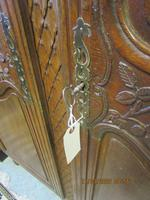 French 19th Century Oak Armoire (6 of 8)