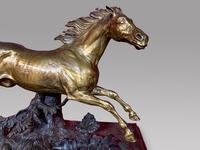 A Lovely Gilt Bronze Model Of a Horse (3 of 4)
