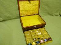 Regency Rosewood Jewellery / Sewing Box - Original Tray + Accessories c.1820 (12 of 15)