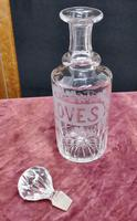 Victorian Etched Crystal Cloves Decanter (4 of 7)