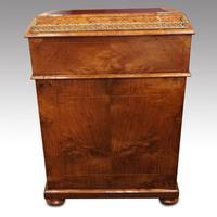 Victorian Antique Inlaid Walnut Davenport (10 of 13)