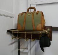 French Art Deco Brass Hat & Coat Rack, Pullman Railway Train Style (5 of 7)