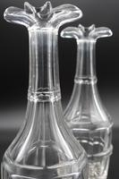 Attractive Pair of Early 19th Century Mallet Shaped Carafes (2 of 3)