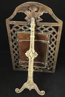Antique Brass Fretwork Easel Photo Frame. (3 of 6)