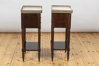 Pair of French Three Drawer Mahogany Bedside Cabinets (5 of 10)