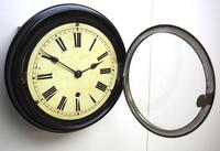 Rare W&H 7 Inch Dial Wall Clock Ebonised Case Dial Clock Station Clock (7 of 12)