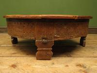 Antique Carved Indian Chakki Table Coffee Table with Lid (7 of 14)