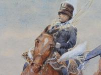 Pair of Victorian Watercolours The Hussars Artist George Clark (6 of 10)