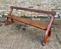 Antique Pitch Pine Gothic Style Church Pew Bench (7 of 13)