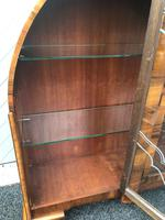 Art Deco Figured Walnut Display Cabinet (6 of 10)