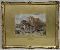 'lane Near Witley', Surrey,  Birket Foster R.W.S. (3 of 6)