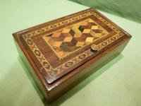 Genuine Tunbridge Ware Box. 100% Original. c1875 (2 of 9)