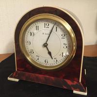 Faux Tortoiseshell Art Deco Mantel Clock