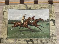Sporting Wall Tapestry Scottish Horse Trainers Racing Glenrothes Scotland Signed (3 of 27)