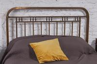 Fashionable simple French naturally aged brass kingsize bed (5 of 6)