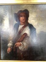 Antique Re-Raphaelite oil painting portrait of a young man with violin (2 of 2) (4 of 10)