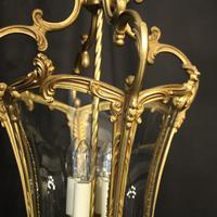 Italian Gilded Bronze Four Light Lantern (8 of 10)