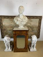 Single Burr Walnut Cabinet with Marble Top (6 of 7)
