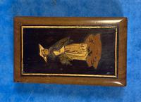 Victorian  Miniature Italian Sorrento Olive Wood Snuff Box (4 of 12)